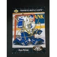 Signed Potvin Felix Toronto Maple Leafs 1992 Upper Deck Hockey Card autographed