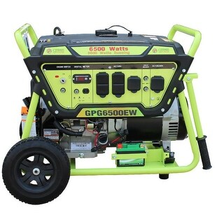 Green Power 6500-Watt Gas Generator, Elec. Start w/Battery, LCT Engine