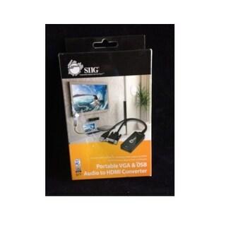 Siig Ce-Vg0u11-S1 Portable Vga And Usb Audio To Video Converter, Black
