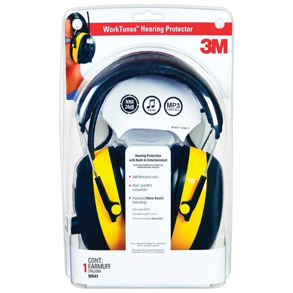 3M 90541-80025T Hearing Protector and AM/FM Stereo Radio