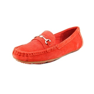Isaac Mizrahi Annie W Moc Toe Suede Loafer