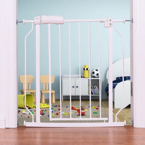 Costway Baby Safety Gate Door Walk Through Child Toddler Pet Metal Easy Locking System - as pic