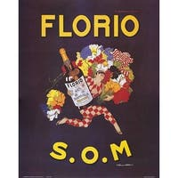 ''Florio S.O.M.'' by Marcello Dudovich Vintage Advertising Art Print (20 x 16 in.)