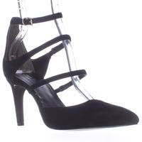 Charles by Charles David Lena Multi Strap Pointed Toe D'Orsay Heels, Black
