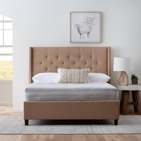 Brookside Wingback Upholstered Bed