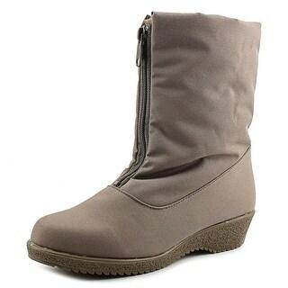 Toe Warmers Jennifer  W Round Toe Synthetic  Winter Boot