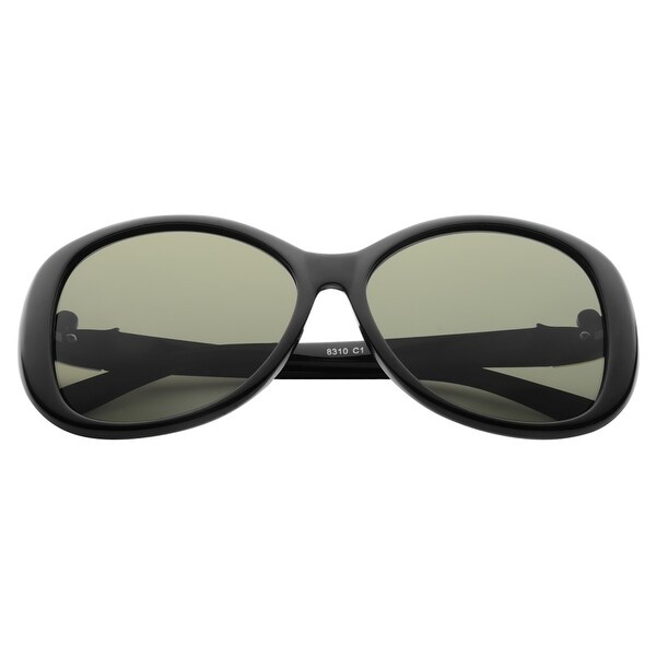 Zodaca 58mm Polarized 100% UV Protection UV400 Rhinestone Arm Sunglasses