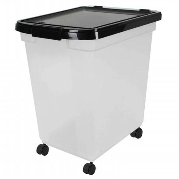 Superbe Iris USA Airtight Pet Food Storage Container With Casters, 4.83