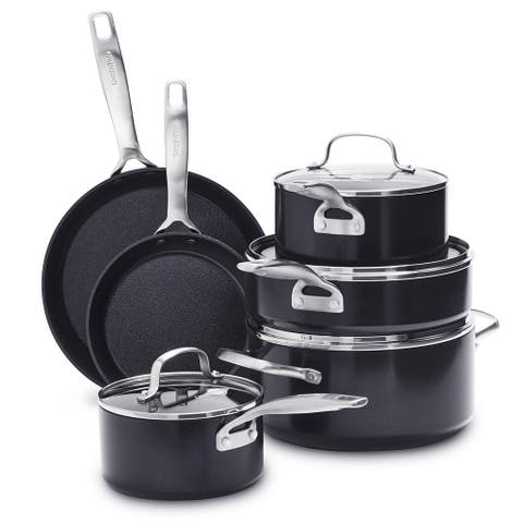 GreenPan SearSmart Hard Anodized Healthy Ceramic Non-stick 10-piece Set
