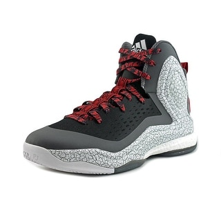 Adidas D Rose 5 Boost Men Round Toe Synthetic Black Basketball Shoe