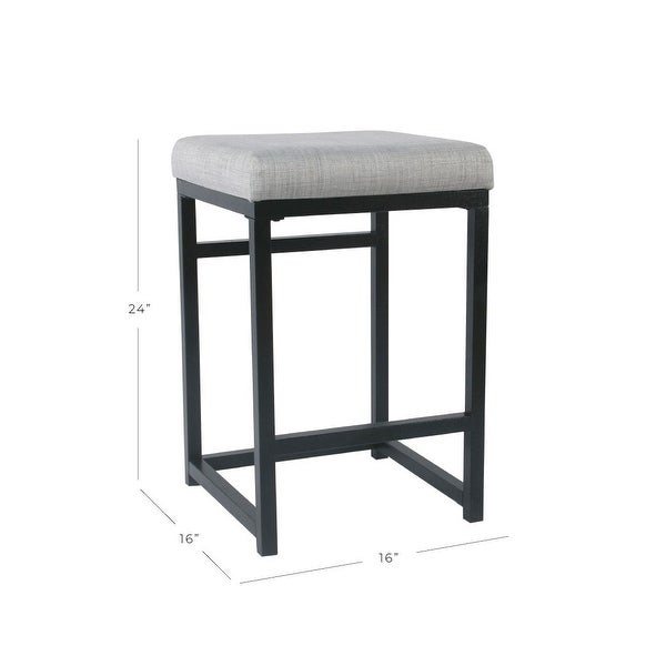 """HomePop Open Back Metal 24"""" Counter Stool - 24 inches - 24 inches"""