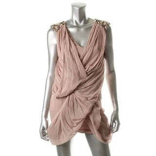 French Connection Womens Evening Dress Silk Embellished - 4