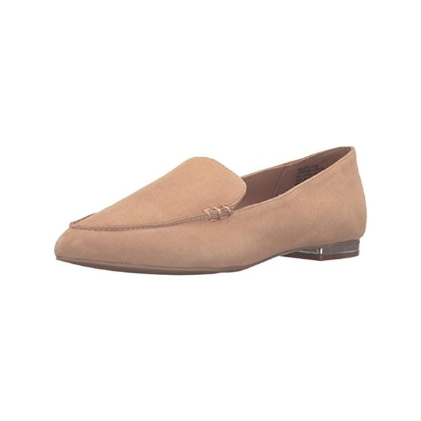 Steve Madden Womens Fausto Loafers Suede Almond Toe