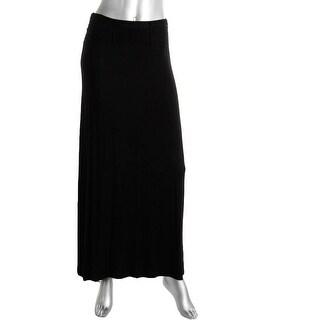 Philosophy Womens Knit Braided Waist Maxi Skirt - S