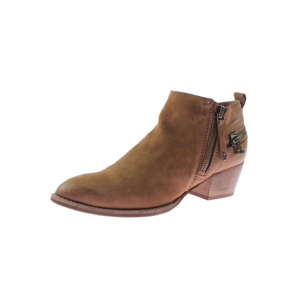 Dolce Vita Womens Saylor Ankle Boots Nubuck Almond Toe