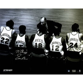 "Earl Monroe Signed Knicks Bench 16x20 Metallic Photo w/ ""73 Champs"" Insc."