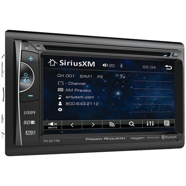 """Power Acoustik Pd-621Xb 6.2"""" Incite Double-Din In-Dash Lcd Touchscreen Dvd Receiver With Bluetooth(R) & Siriusxm(R) Ready"""