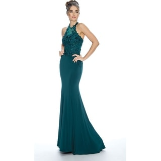 Link to Stella Couture Halter Neck Formal Prom Long Dress Similar Items in Dresses