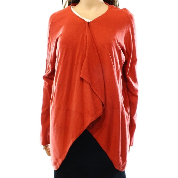 Jarbo NEW Orange Women's Size Medium M High Low Cardigan Sweater