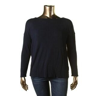 Lauren Ralph Lauren Womens Scoop Neck Long Sleeves Casual Top