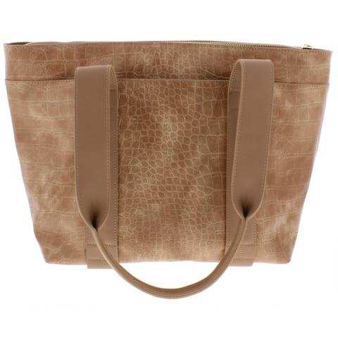 Urban Expressions Womens Finn Tote Handbag Vegan Animal Print - Natural - Large