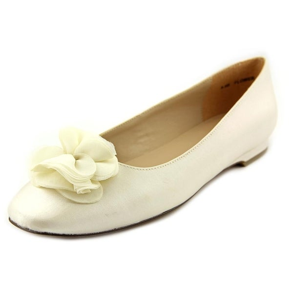 Brianna Leigh Flower Round Toe Canvas Flats