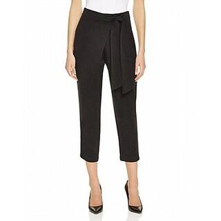 Ella Moss NEW Black Womens Size Medium M Waist-Tie Cropped Pants