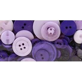 Purple Passion - Button Bonanza .5Lb Assorted Buttons
