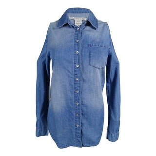 American Rag Women's Cold Shoulder Denim Tunic Shirt