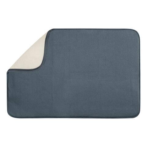 InterDesign 40232 Microfiber Drying Mat, XL, Pewter