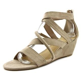 Nine West Hazel3y Women Open Toe Canvas Gray Gladiator Sandal