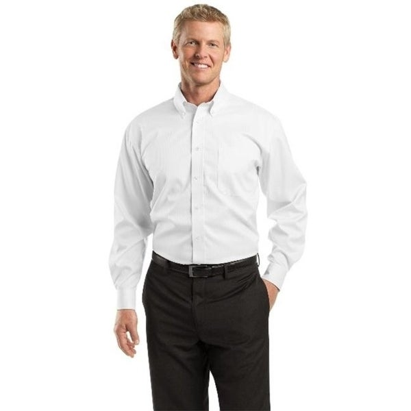 Red House Mens Dobby Non Iron Button Down Shirt