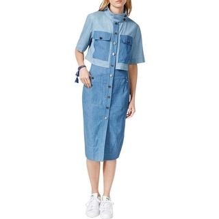 Rachel Rachel Roy Womens Shirtdress Denim Midi - 12