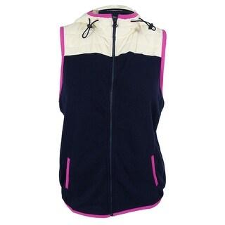 Tommy Hilfiger Women's Hooded Contrast Vest & Bag Set