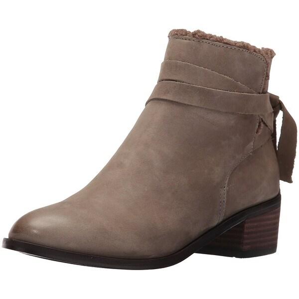 Aldo Women's Mykala Ankle Bootie, Grey Nabuck, Size 6.0