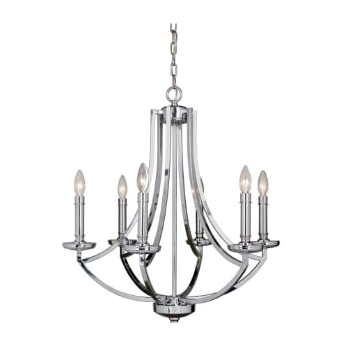 "Jeremiah Lighting 40026 Hayden 6 Light 25"" Wide Single Tier Cage Chandelier"