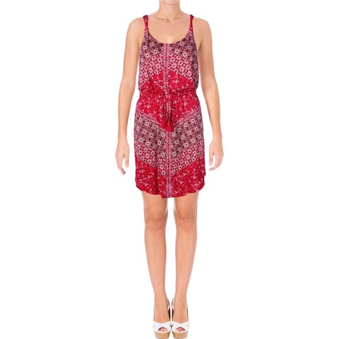Lucky Brand Womens Casual Dress Printed Twist-Straps