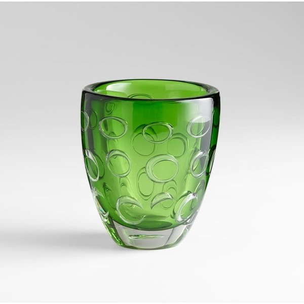 "Cyan Design 5371 8"" Home Accent Vase - Emerald Green"