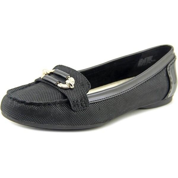 Anne Klein Keep It Women Moc Toe Canvas Loafer