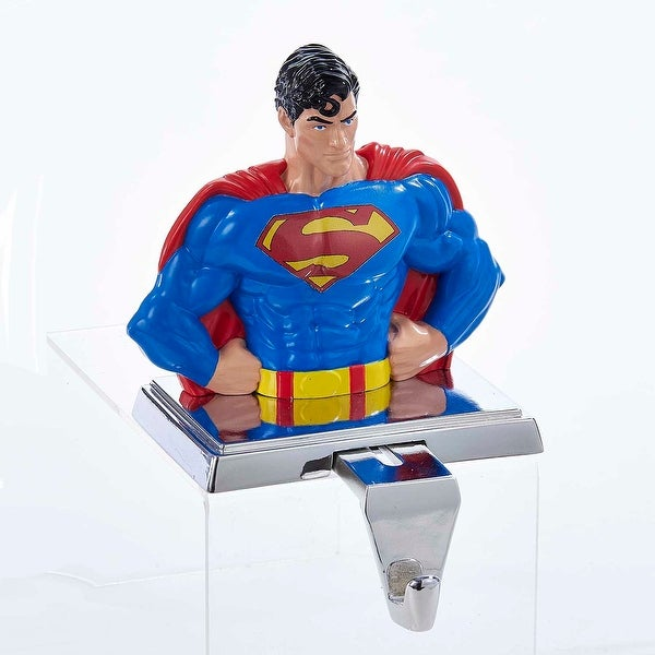 Superman Stocking Holder with Retractable Hook