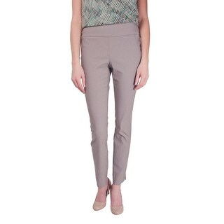 Nic+Zoe NEW Gray Womens Size 2 Stretch Flat-Front Ankle Dress Pants