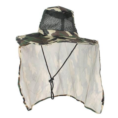 Unique Bargains Men Women Assorted Nylon Hiking Fishing Cap Sun Hat Mesh Hooded