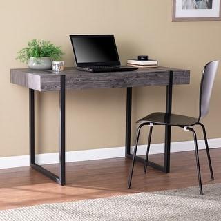 Carbon Loft Hackney Transitional Black Wood Desk