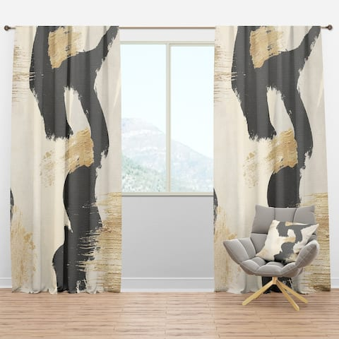 Designart 'Glam Collage II' Modern & Contemporary Curtain Panels