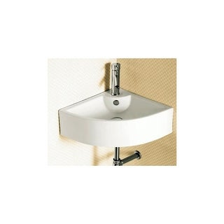 """Nameeks CA4053  Caracalla 18-11/12"""" Ceramic Wall Mounted Bathroom Sink with 1 Faucet Hole and Overflow - White"""