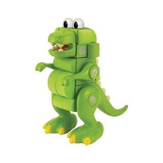 Velcro Kids Velcro(r) Blocks T-Rex - EVA Foam Dinosaur Building Blocks Set - 31-Piece Children's Toy - Green