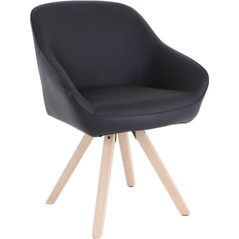 Lorell Natural Wood Legs Modern Guest Chair
