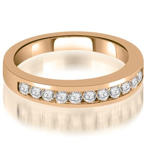 0.35 cttw. 14K Rose Gold Channel Set Round Cut Diamond Wedding Band