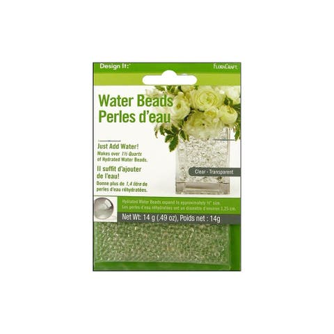 FloraCraft Water Beads Dehydrated Clear - White