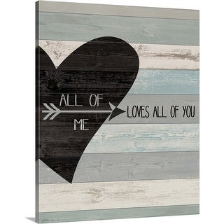 """""""All of Me"""" Canvas Wall Art"""